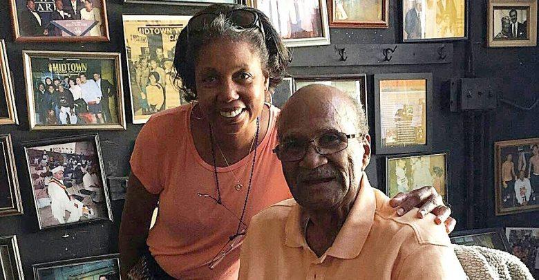 Eugene Hughes and his caregiver, Gloria Lee. /Photo courtesy of Facebook