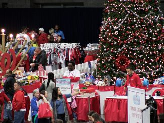 The Washington Nationals holds a holiday toy drive in partnership with Washington Informer Charities during the team's annual Winterfest event on Saturday, Dec. 10 at the Walter E. Washington Convention Center in Northwest. (Shevry Lassiter/The Washington Informer)