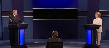 Donald Trump and Hillary Clinton square off in the third and final 2016 presidential debate, moderated by Fox News anchor Chris Wallace, at the University of Nevada, Las Vegas on Oct. 19.