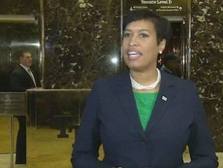 D.C. Mayor Muriel Bowser speaks with reporters in the lobby of Trump Tower in New York on Dec. 6 after meeting with President-elect Donald Trump.