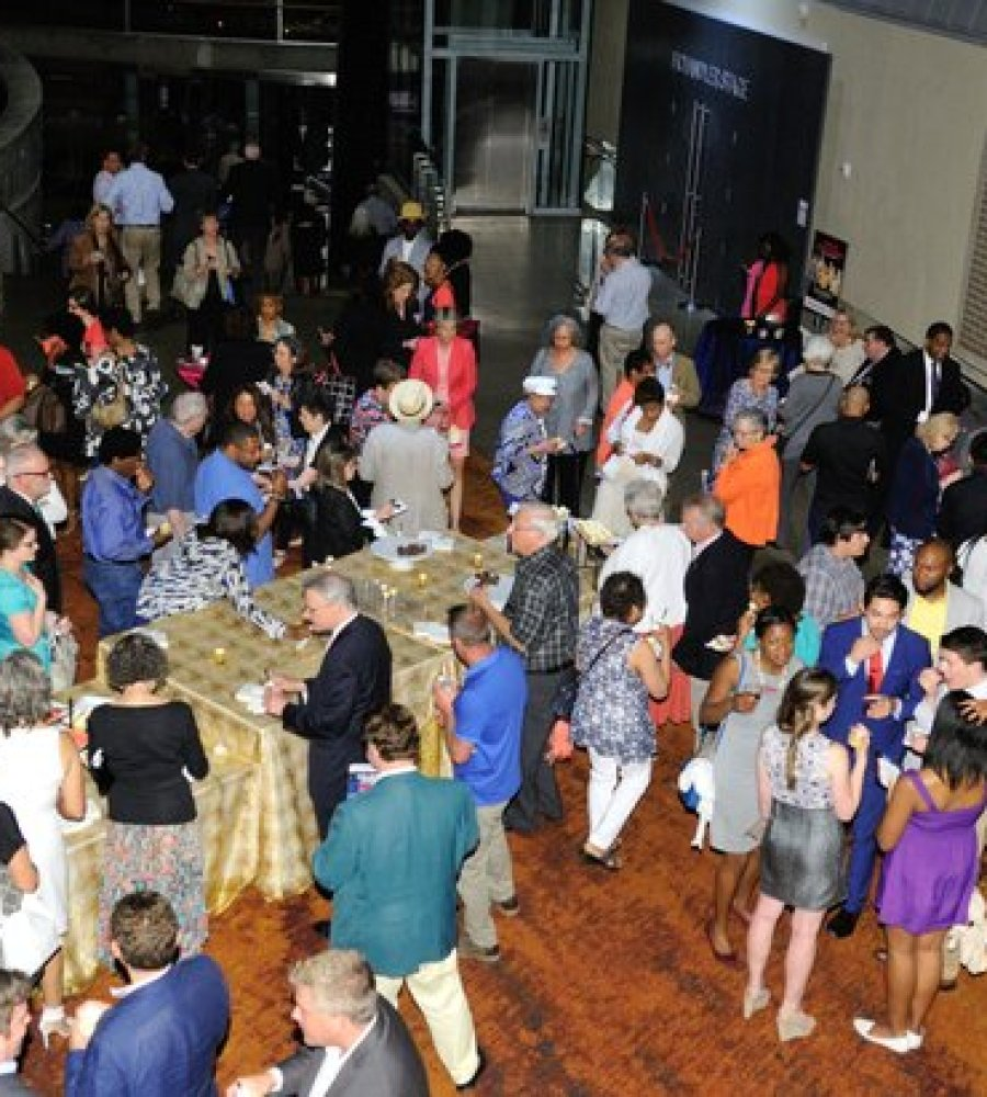 "Patrons attend the post-show reception for the musical stage play ""Born for This: The BeBe Winans Story"" on Thursday, July 7 at the Arena Stage Kreeger Theater in Southwest. /Photo by Patricia Little"