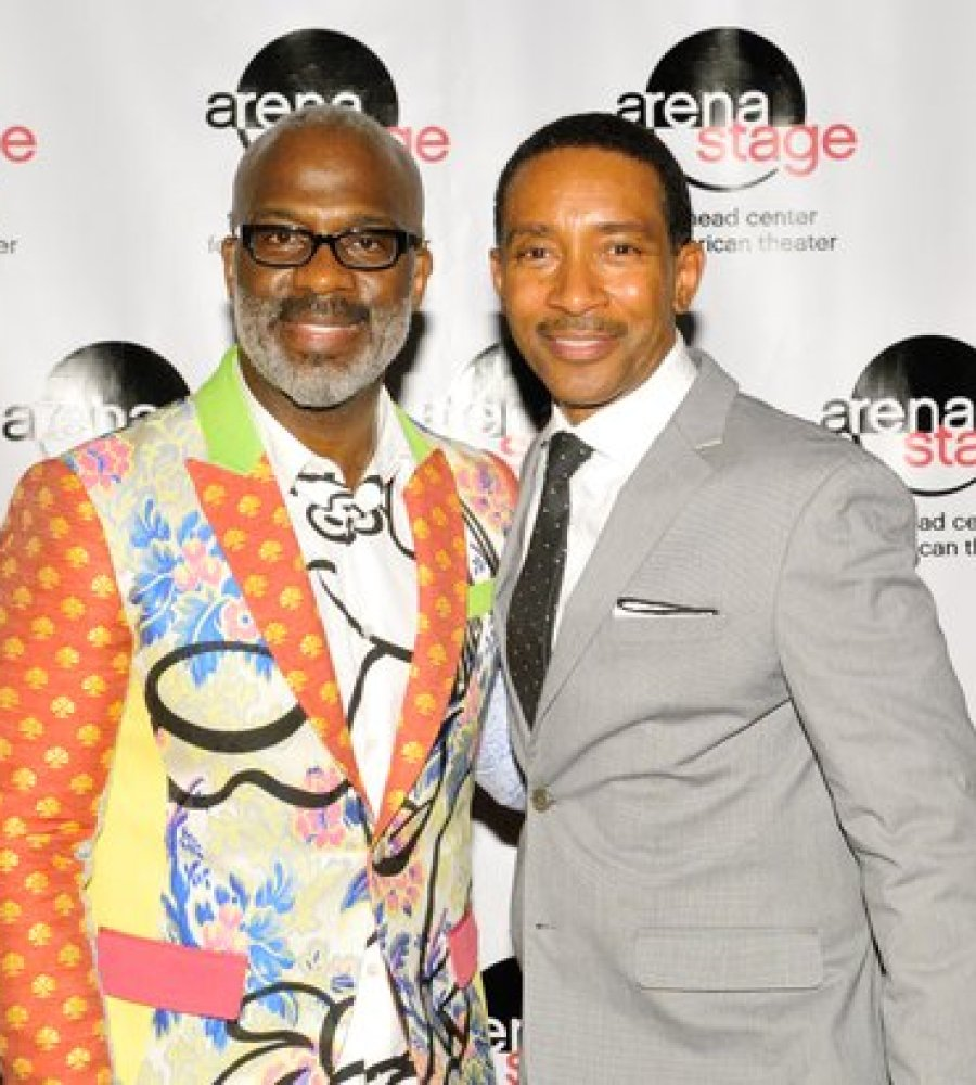 "Gospel recording artist Benjamin ""Bebe"" Winans (left) and Director Charles Randolph-Wright (right), attend the post-show reception for the musical stage play ""Born for This: The BeBe Winans Story"" on Thursday, July 7 at the Arena Stage Kreeger Theater in Southwest. /Photo by Patricia Little"