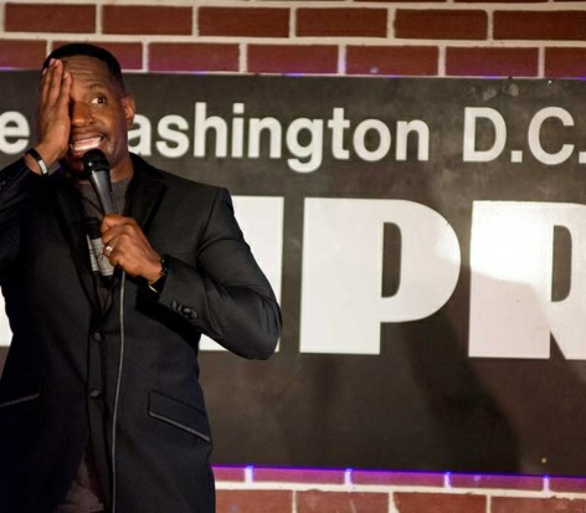 NBC's Last Comic Standing Season 8 winner, Rod Man, performs his stand-up routine about one-eye Frank at the DC Improv, Friday, April 15, 2016 in northwest. /Photo by Patricia Little @5feet2