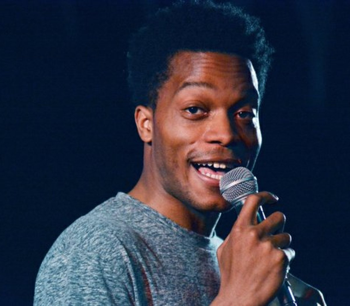Comedian and DC native Jermaine Fowler, performs during the Inaugural 202 Comedy Festival at the Black Cat, Saturday, April 16, 2016. /Photo by Patricia Little @5feet2