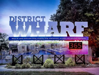 The Wharf countdown clock has been unveiled. /Photo courtesy of dcwharf.com.