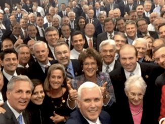 Vice President-elect Mike Pence's selfie at House GOP conference in November (Twitter)