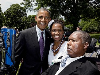 O.J. Brigance and wife Chandra with former President Barack Obama (Courtesy photo)