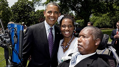 O.J. Brigance and wife Chandra with former President Barack Obama (Courtesy photo)