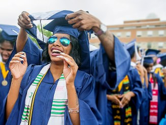 Howard University graduates celebrate. (Courtesy photo)
