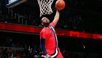 John Wall scored 22 points and dished out 10 assists in the Washington Wizards' 104-100 win over the Atlanta Hawks at Verizon Center in D.C. on March 22. (Courtesy of the Wizards via Twitter)