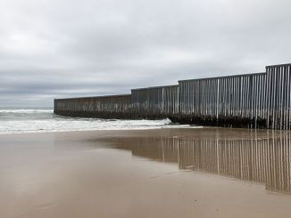 Mexico-U.S. border wall at Tijuana, Mexico