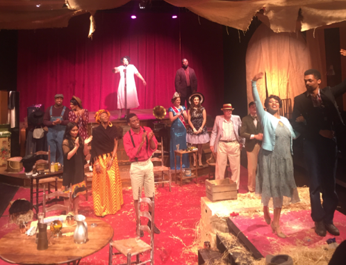 "The cast of ""The Very Last Days of the First Colored Circus"" during a March 3 performance at Anacostia Playhouse (Jade James-Gist/The Washington Informer)"