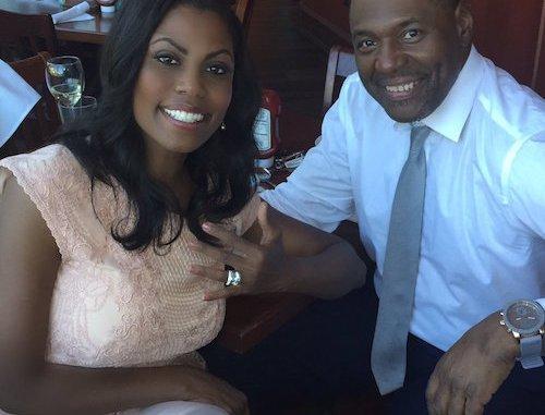 Omarosa Manigault and fiance John Allen Newman (Courtesy of Manigault via Twitter)