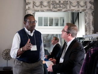 Calvin Smith Sr. director of government and community relations at BridgePoint Healthcare, and Dan Magee, communications manager at AmeriHealth Caritas (Courtesy of Imagine Photography)