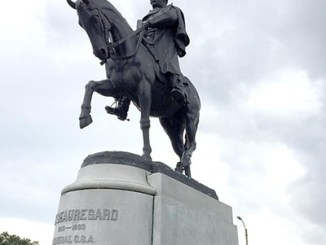 An equestrian statue of P.G.T. Beauregard in New Orleans is seen here. (Courtesy of bestofneworleans.com)