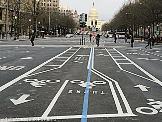 City improvements include new bicycle lanes. (Courtesy of Street Mixology)