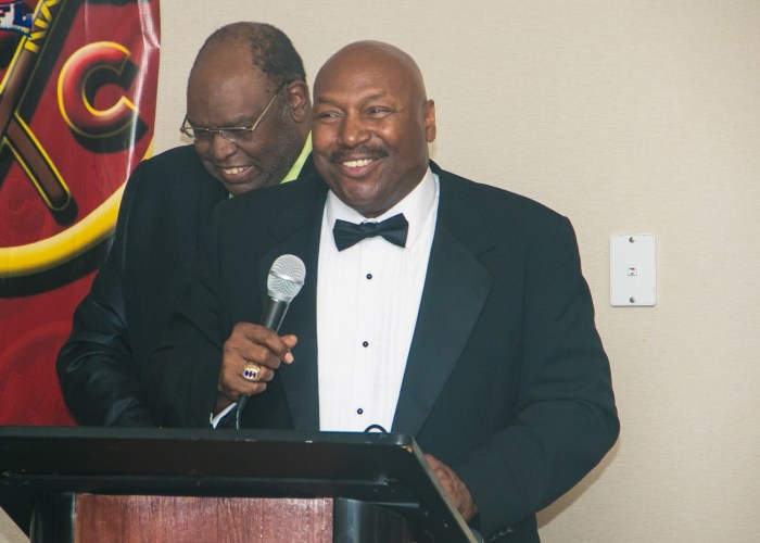 Richard Myles Sr., CEO, founder and chairman of the Washington Chiefs Minor Football League hosts the 8th Annual Cardozo All-Met Hall of Fame Awards Dinner in Upper Marlboro, Md., held on April 30, 2017. /Photo by Shevry Lassiter