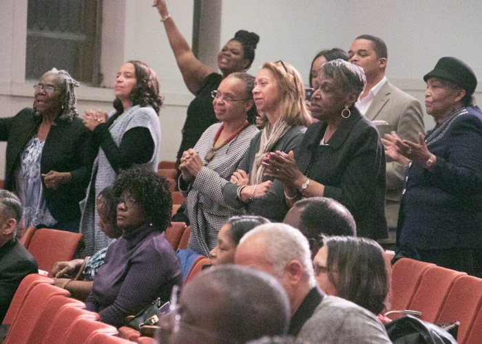 Concert goers enjoy a performance by gospel artist Yolanda Adams at the LM Foundation's domestic violence awareness concert held at Nineteenth Street Baptist Church in Northwest on May 6, 2017/Photo by Shevry Lassiter