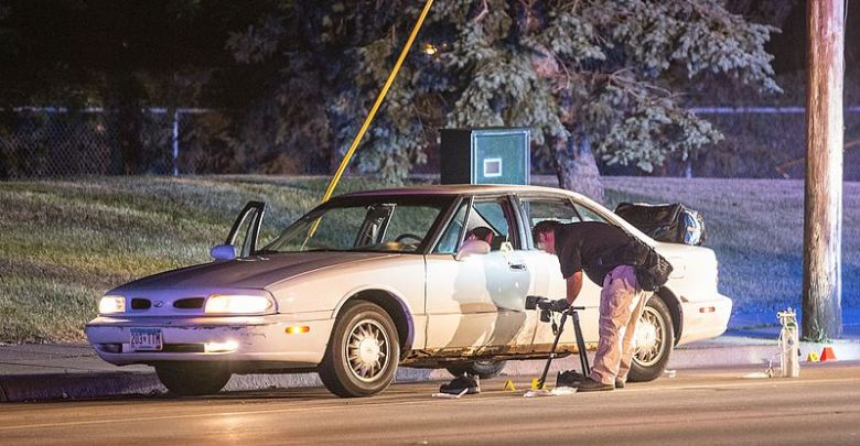 Minnesota Bureau of Criminal Apprehension (BCA) investigators process the scene of where a St. Anthony Police officer shot and killed 32-year-old Philando Castile in a car near Larpenteur Avenue and Fry Street in Falcon Heights, Minnesota, on July 6, 2016. (Tony Webster via Wikipedia)