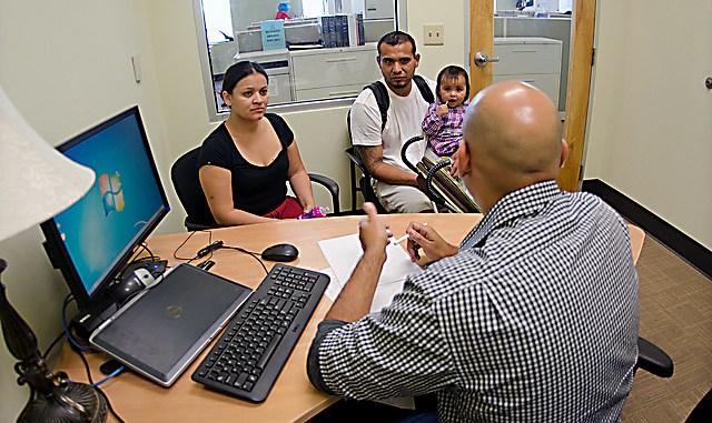 A Latino family seeks assistance. (Courtesy photo)