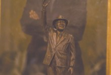 An eight-foot statue of Marion Barry Jr. will be placed in the shadow of the Wilson Building in Northwest next year.