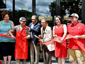BBQ Bus opens its first brick-and-mortar location on July 7 in the Brightwood neighborhood of D.C. (Travis Riddick/The Washington Informer)