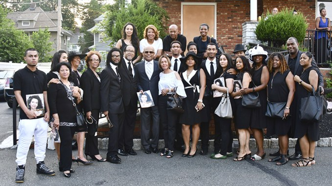 The Chavis-Rivera family gather for a photograph during the Celebration of Life for Martha Rivera Chavis at Martin's Home for Service Inc., in Montclair, N.J., on June 11. (Travis Riddick/NNPA)