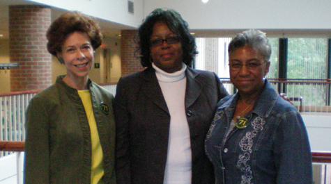 From left: Janet Brown Strafer, Karen Ely and Lynn Brile, the first African-American students to live on campus at the College of William & Mary (Courtesy photo)
