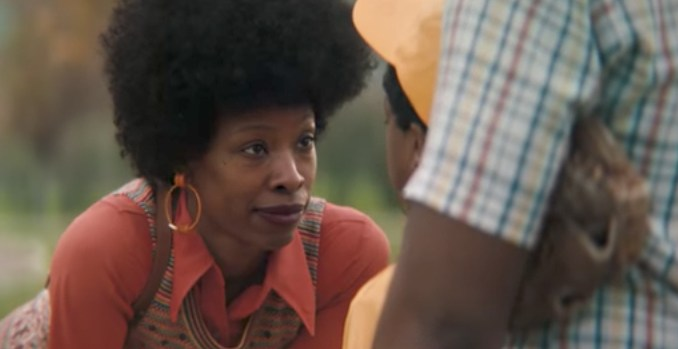"""A screen shot of Procter & Gamble's """"The Talk"""" television commercial, which features African-American women discussing the realities of being black in America with their children"""