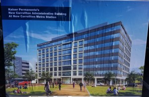 A rendering of the Kaiser Permanente administration building in New Carrollton, scheduled to open next year, is seen here. (William J. Ford/The Washington Informer)