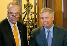 Sens. Charles Schumer (left) and Lindsey Graham (Courtesy of timesofisrael.com)