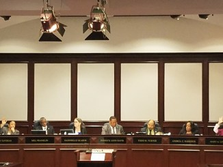 The Prince George's County Council discusses proposed legislation to offer those who work in the county and involved in domestic violence situations paid sick and safe leave during an Oct. 17 council meeting. (William J. Ford/The Washington Informer)