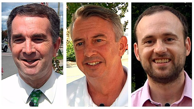Democrat Ralph Northam, Republican Ed Gillespie and Libertarian Cliff Hyra (Courtesy of WRIC)