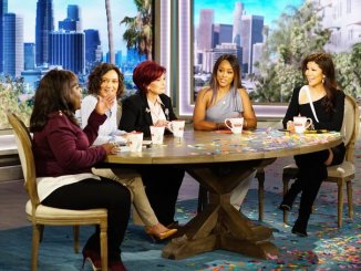 "Rapper Eve (second from right) has joined CBS's ""The Talk"" as a permanent co-host. (Courtesy of CBS)"