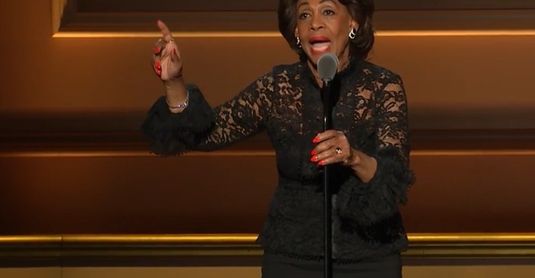 Rep. Maxine Waters (D-Calif.) gives an acceptance speech after being honored during Glamour magazine's annual Women of the Year awards in New York on Nov. 13.