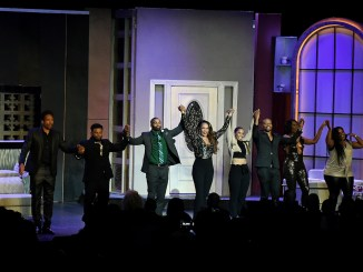 """The stellar cast of """"Two Can Play That Game"""" takes its bows. (Roy Lewis/The Washington Informer)"""