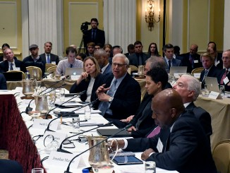 The Knight Commission on Intercollegiate Athletics holds court at the Willard InterContinental Washington in northwest D.C. on Oct. 30. (Roy Lewis/The Washington Informer)