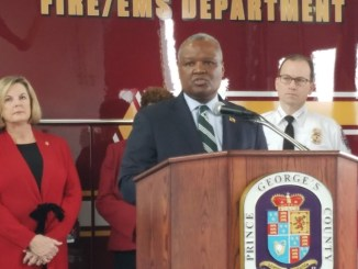 Prince George's County Executive Rushern L. Baker III discusses a county lawsuit against 26 companies and individuals for illegal distribution of opioids to county residents. (William J. Ford/The Washington Informer)
