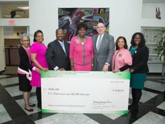 International Alpha Kappa Alpha President Dorothy Buckhanan Wilson presents a check to Africare. (Courtesy photo)