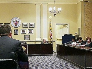 Maryland lawmakers listen as Metro official Tom Webster (left) discusses the transit agency's proposed fiscal 2019 budget on Jan. 19. (William J. Ford/The Washington Informer)