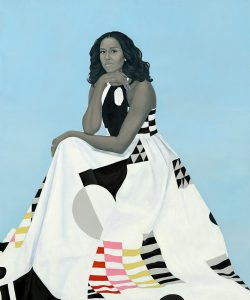 Michelle Obama portrait by Amy Sherald