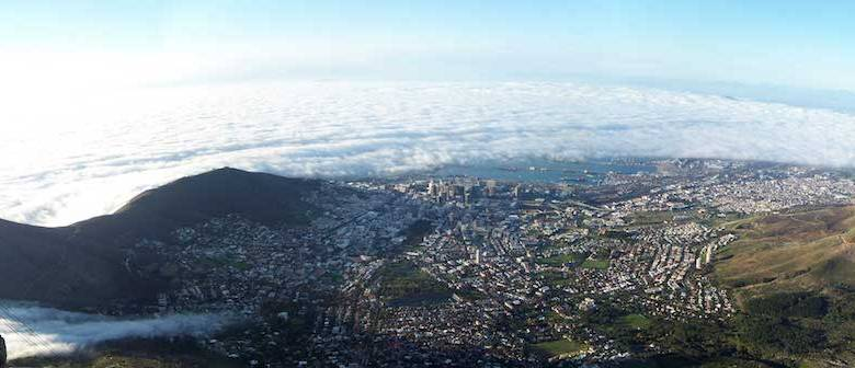 "**FILE** Cape Town's ""city bowl"" from Table Mountain (Andres de Wet via Wikimedia Commons)"