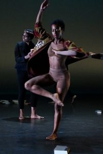 """Ronya-Lee Anderson performs a piece she choreographed named """"Canon"""" during a dress rehearsal at the Clarice Smith Performing Arts Center in College Park on Jan. 26.. (Roy Lewis/The Washington Informer)"""
