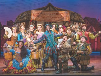 "The cast of the musical comedic play ""Something Rotten!"" — now on stage at the National Theatre in D.C. through Feb. 18 — is seen here. (Jeremy Daniel)"