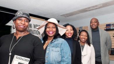 Panelists Zerline Hughes Spruill, Brandi Forte, Maya Rhoden, Ayesha Roscoe and Bobby White read from Zora Neale Hurston's works for the Hurston/Wright Foundation's birthday commemoration for the legendary writer. (Courtesy of Stephanie Williams Images and the Hurston/Wright Foundation)