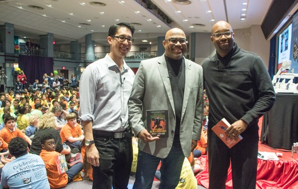 """Authors Gene Luen Yang, Jesse Holland and Kwame Alexander served as the featured guests at the """"Read Across America"""" event hosted at the headquarters of the National Education Association in Northwest on Thursday, March 1. (Shevry Lassiter/The Washington Informer)"""