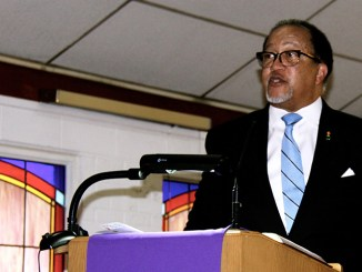 Benjamin F. Chavis Jr., president and CEO of the National Newspaper Publishers Association, speaks during a Black History Month celebration at the Twelfth Street Christian Church (Disciples of Christ) in Washington, D.C. (Claudette Perry/NNPA)