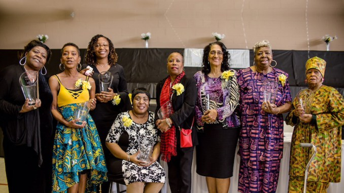 Ward 7's exemplary women are honored during a luncheon. (Courtesy of ERFSC, Inc.)