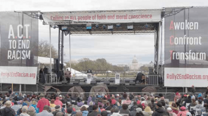 "The ""Act to End Racism"" rally is held on the National Mall in D.C. on April 4, 2018, the 50th anniversary of the assassination of Dr. Martin Luther King Jr. (Shevry Lassiter/The Washington Informer)"