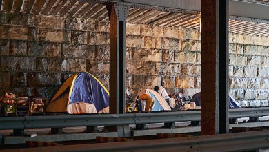 A squatter's camp near Union Station in D.C. (Brigette White/The Washington Informer)